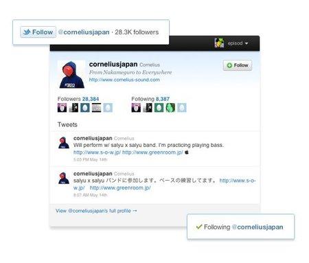 Twitter lanza el botón Follow para poder seguir a usuarios directamente desde cualquier web