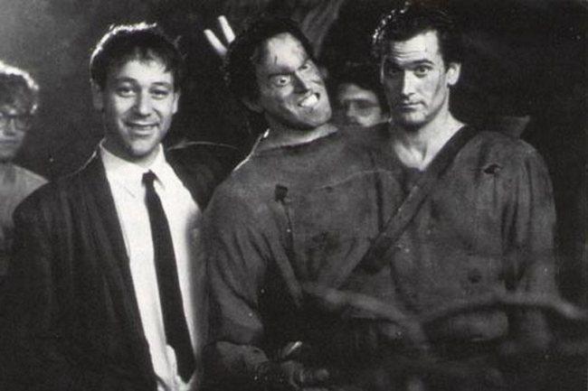 Sam Raimi y Bruce Campbell en el rodaje de El Ejército de las Tinieblas