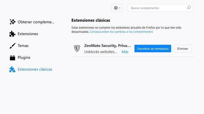 Firefox Quantum Extensiones Clasicas