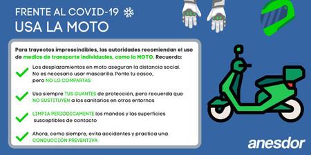 Moto Transporte Mas Seguro Coronavirus