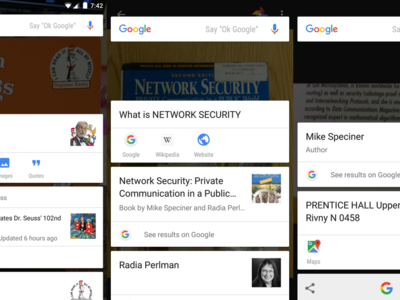 Google Now on Tap, ahora con características OCR