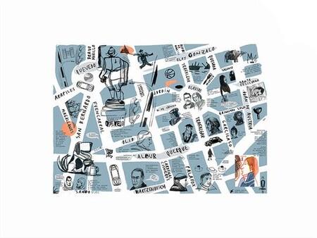 Mapa Literario Del Barrio De Chamberi Madrid Vendor Javier Vazquez