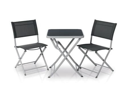 Set De Muebles De Aluminio Para Balcon