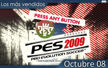Los juegos más vendidos en España - Octubre 2008. España se rinde al 'PES 2009'.