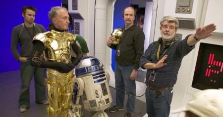 Anthony Daniels y George Lucas