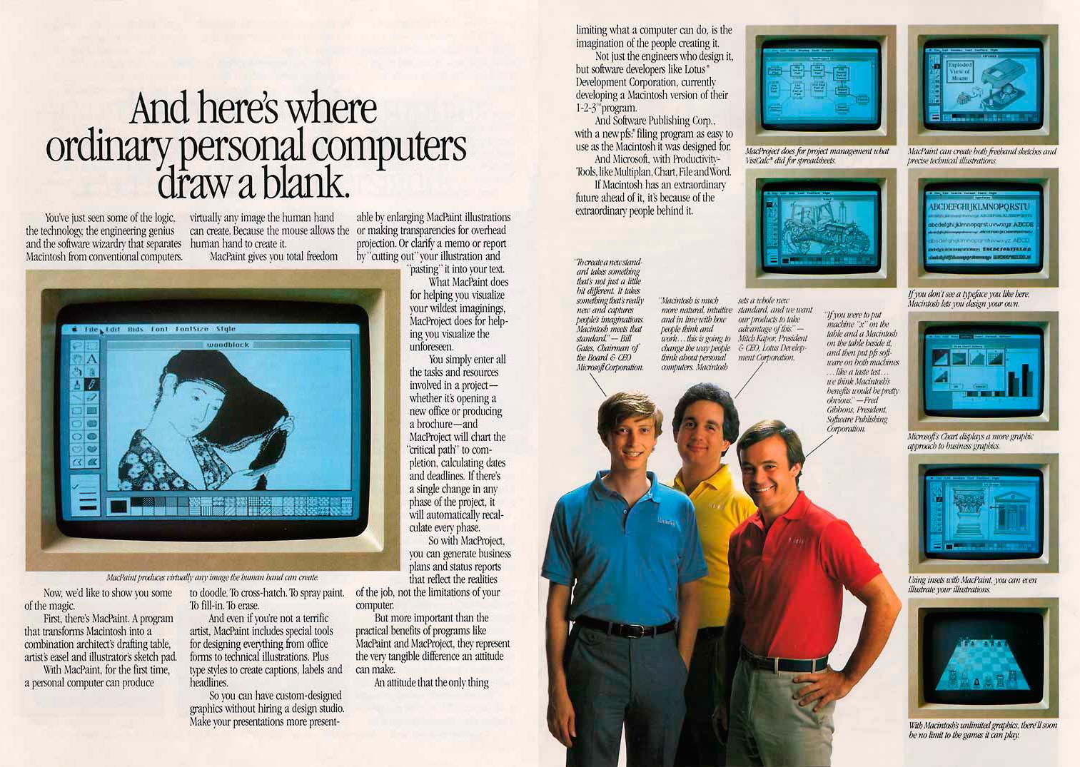 Foto de Presentación del Macintosh en Newsweek (8/11)