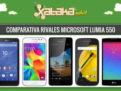 Comparativa Microsoft Lumia 550 frente a sus rivales