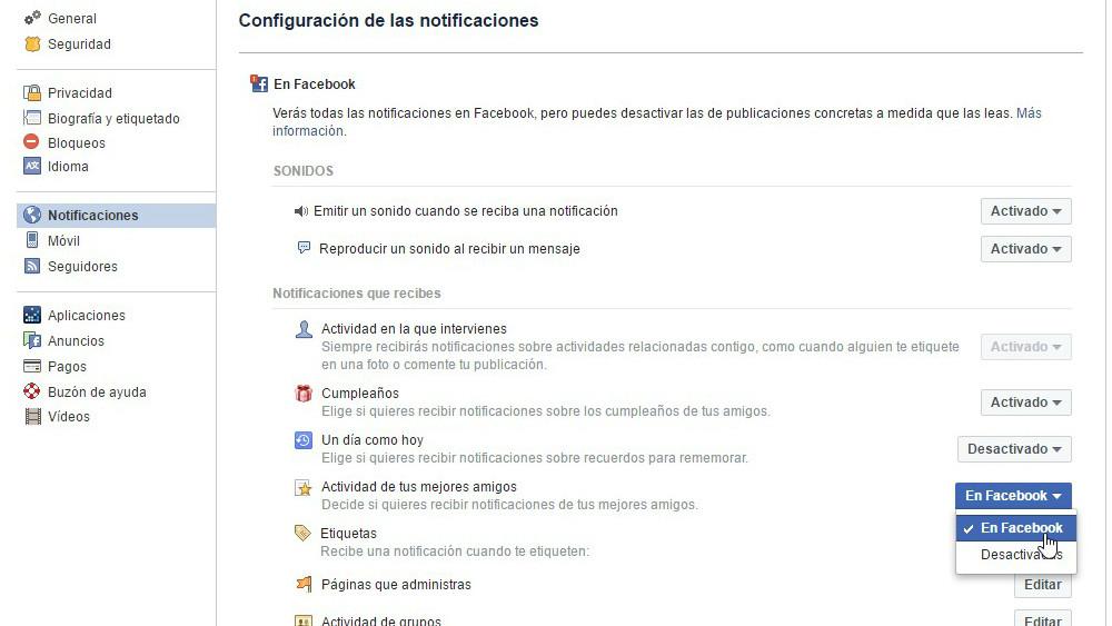 Configuracion De Las Notificaciones