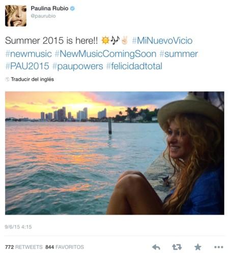 Paulina Rubio, su Twitter y la selectividad, mezcla explosiva