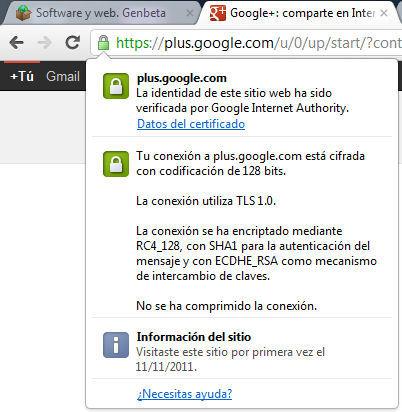 Chrome 17, información de seguridad