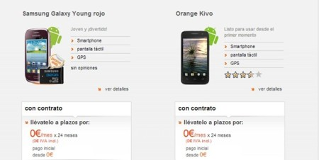 Los smartphones de gama de entrada  a cero euros vuelven a Orange por Navidad