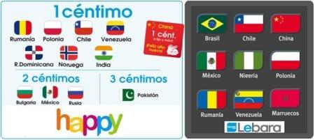 Happy Móvil y Lebara apuestan por llamadas internacionales desde 1 céntimo/minuto