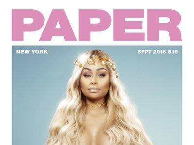 Y ahora va Blac Chyna y se despelota en  Paper Magazine sacando barrigola