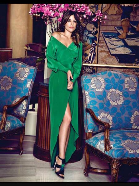 Vestido verde lima dolores promesas
