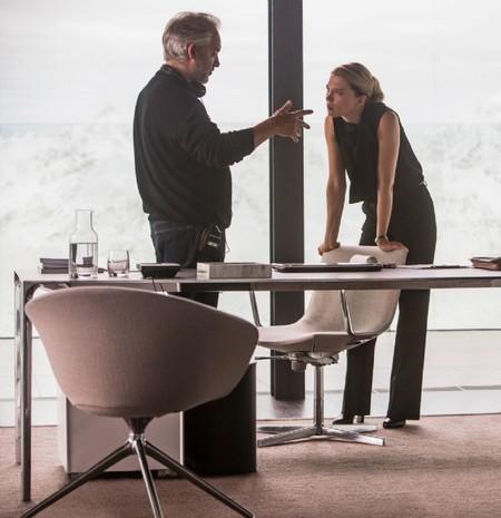 Sam Mendes y Lea Seydoux durante el rodaje de Spectre