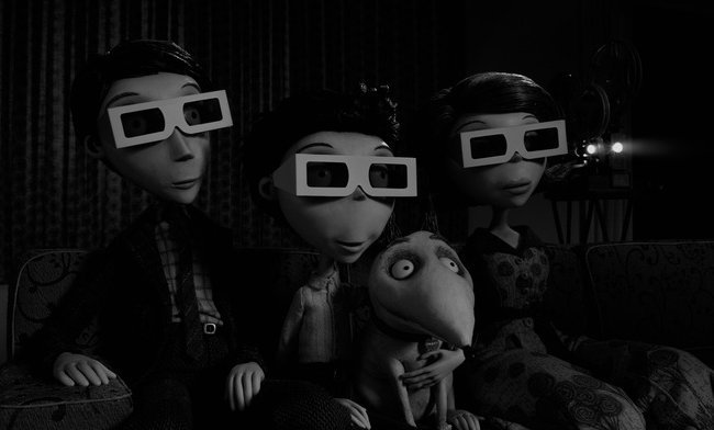 Una imagen de la película Frankenweenie