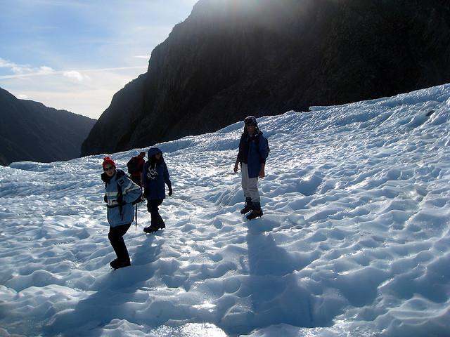 Trekking en glaciar de Nueva Zelanda