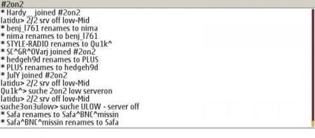 phIRC, cliente IRC para Symbian