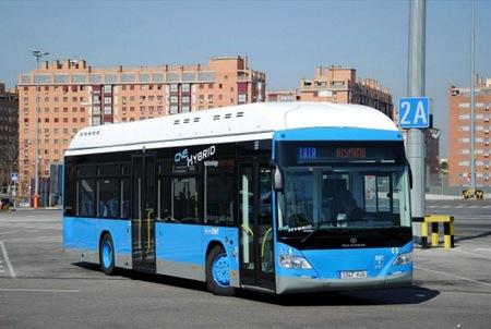Tata Hispano Hybrid CNG autobús híbrido de gas natural de la EMT