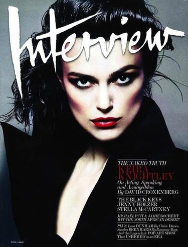 Keira Knightley es la más mala de la clase en la portada de Interview Magazine