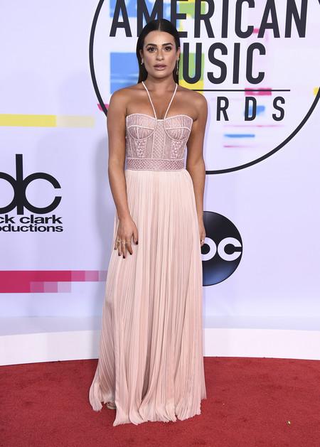 mejor vestidas american music awards 2017 lea michele