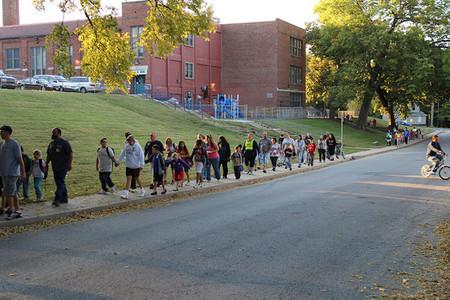 Caminando al colegio