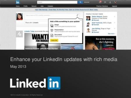 LinkedIn ahora permite adjuntar documentos e imágenes a actualizaciones de estado