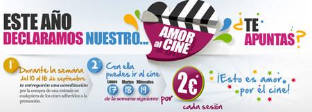Fiesta del Cine 2012: en septiembre películas a dos euros