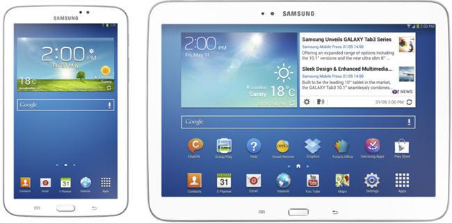 Samsung Galaxy Tab 3 8 y 10,1 pulgadas, toda la información