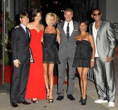 La fiesta de bienvenida para los Beckham