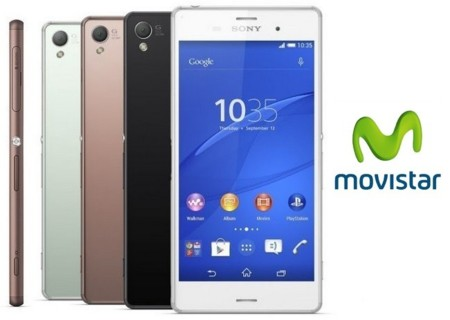 Precios Sony Xperia Z3 con Movistar y comparativa con Vodafone, Orange, Yoigo y Amena