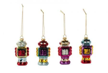 Decora tu árbol de Navidad con estos divertidos robots