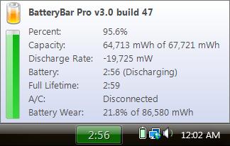 BatteryBar mejora la visualización de la autonomía