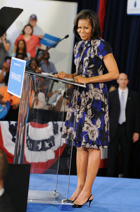Michelle Obama largo vestido