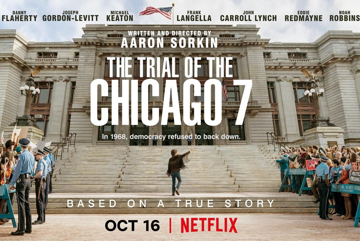 poster película El Juicio de los 7 de Chicago