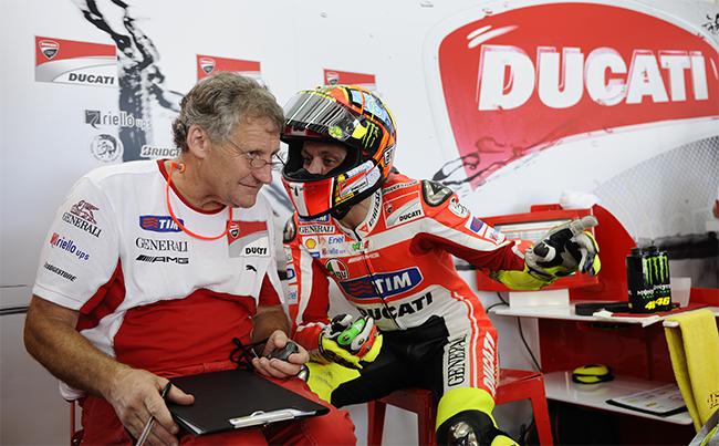 Jeremy Burgess y Valentino Rossi
