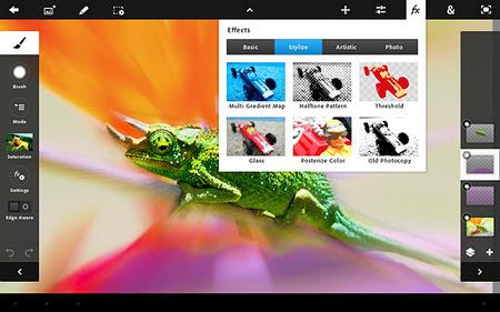 Adobe Photoshop Touch actualizado a la versión 1.2 y por fin en español