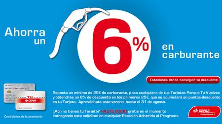 6% de descuento en las estaciones de servicio Cepsa