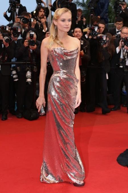 Dianne Kruger vuelve a brillar en la alfombra roja del Festival de Cannes