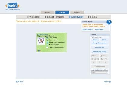 Hyplet, creando nuestra firma online en html