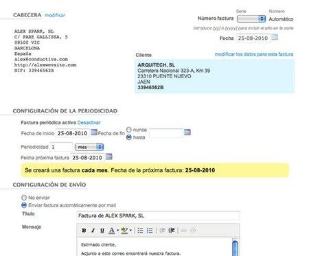 Factura directa añade opción de generación de facturas periódicas
