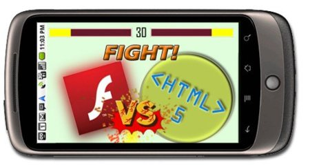 Adobe Flash y HTML5 cara a cara en un Nexus One