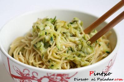 Receta de noodles con calabacín