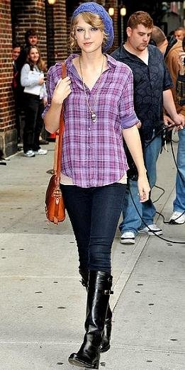 taylor swift camisa cuadros