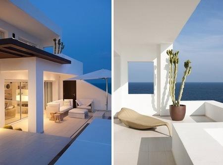 Puertas abiertas sensacional casa de veraneo en ibiza for Terrazas ibicencas