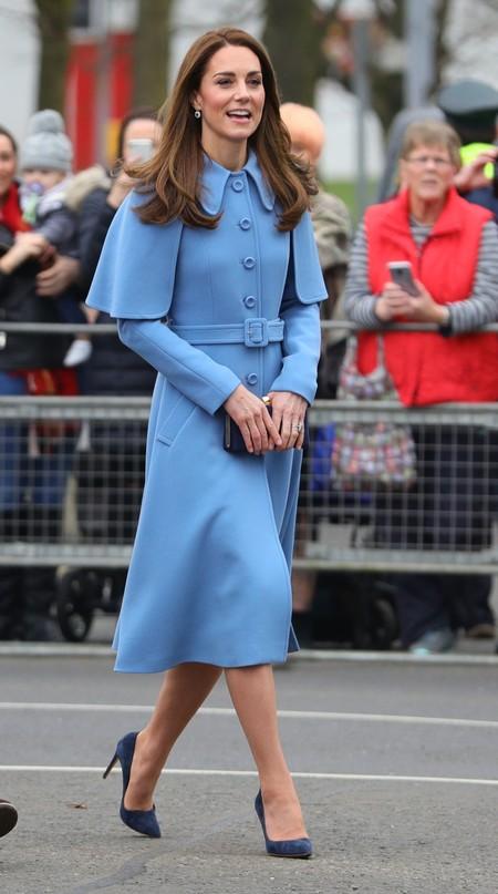 Kate Middleton Abrigo Azul