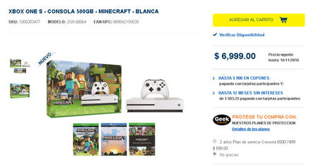 Xbox One S Mexico Bestbuy
