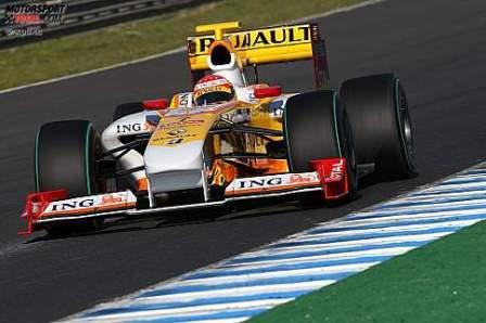 Fernando Alonso y el primer día en condiciones del R29