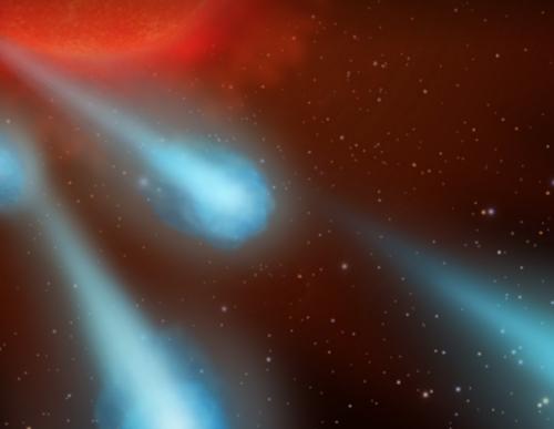 ¿El modo más rápido de ir de la Tierra a la Luna? Las gigantescas bolas de plasma descubiertas por el Hubble en una estrella moribunda