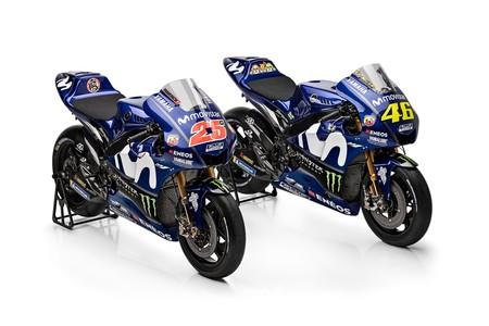 El blanco sobre azul ha sido lo más relevante en la presentación del Movistar Yamaha MotoGP